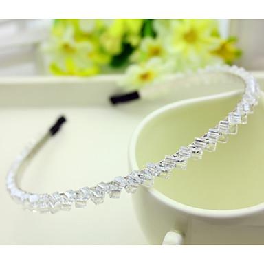 Sør-Korea importert hårnål rhinestone beaded hode hoop dekorasjoner dobbel rad krystall hår band gjennomsiktig hvit