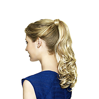 Synthetic Hair Wigs Wavy With Ponytail Capless