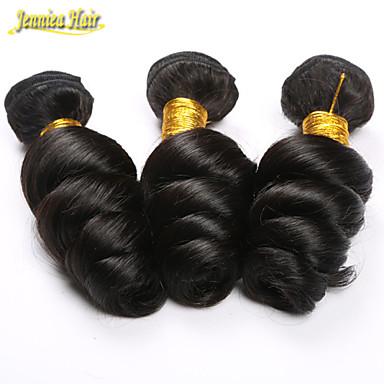 Υφάνσεις ανθρώπινα μαλλιών Περουβιανή Χαλαρό Κυματιστό 3 Κομμάτια υφαίνει τα μαλλιά