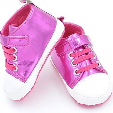 Παπούτσια για το μωρό - Μοντέρνα Αθλητικά - Καθημερινά - Πανί - Ροζ / Κόκκινο / Ασημί