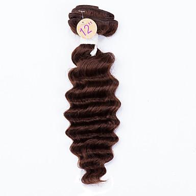 Tissages de cheveux humains Cheveux Malaisiens Ondulation profonde 12 mois 1 Pièce tissages de cheveux