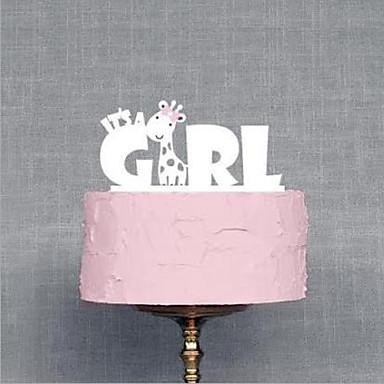 Cake Topper Garden Theme Fairytale Theme Acrylic Baby Shower with 1 OPP