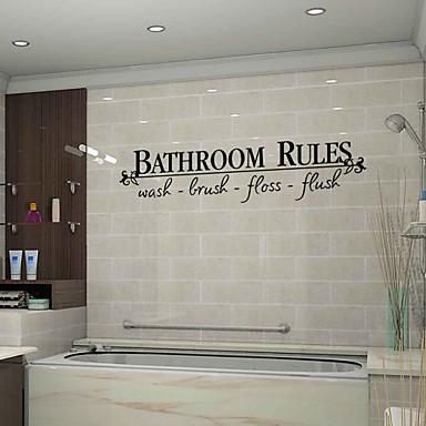 Romantik Mode Formen Blumen Feiertage Worte & Zitate Cartoon Design Fantasie Wand-Sticker Worte & Zitate Wandaufkleber Dekorative Wand