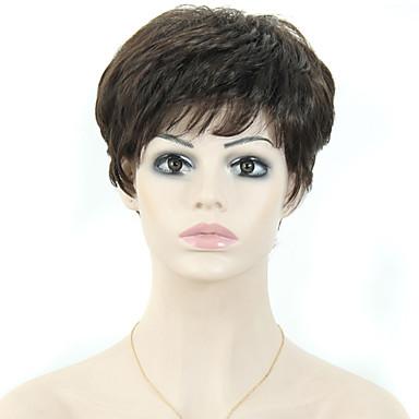 kobiet, krótkie włosy syntetyczne proste pixie cut peruka peruki czarne włosy