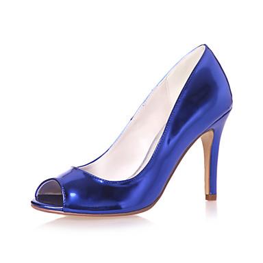 Γυναικεία παπούτσια - Πέδιλα - Γάμος / Καθημερινά / Πάρτι & Βραδινή Έξοδος - Τακούνι Στιλέτο - Peep Toe - Λουστρίν -Μαύρο / Μπλε / Ασημί
