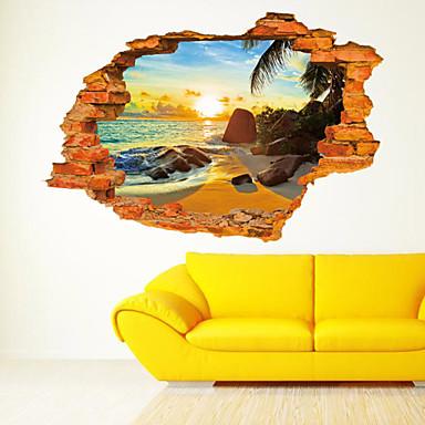 Still Life Romantik Spejle Mote Botanisk Tegneserie Højtid Transport 3D Veggklistremerker 3D Mur Klistremerker Dekorative Mur