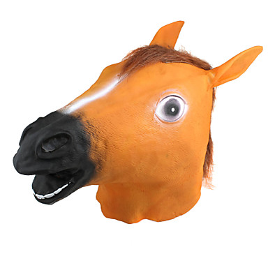 Halloween Masks Toys Horse Latex Rubber Horror Pieces Gift