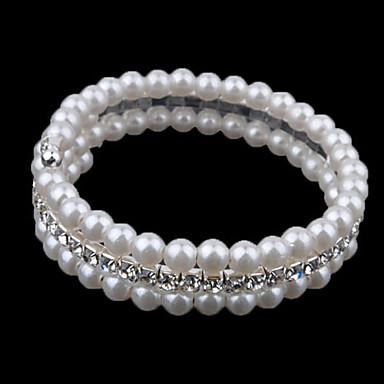 Dame Perle Lag-på-lag Strand Armbånd - Perle, Fuskediamant Fritid, Med perler, Mote Armbånd Skjermfarge Til Daglig