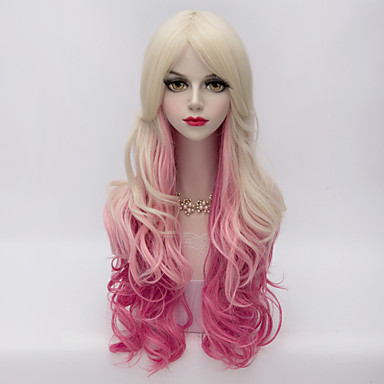 Women Synthetic Wig Very Long Loose Wave Blonde Halloween Wig Carnival Wig Costume Wig