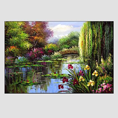 Hang-Malowane obraz olejny Ręcznie malowane - Krajobraz Fason europejski Nowoczesny Brezentowy