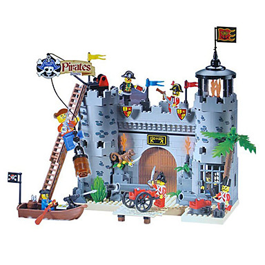 korsanlar soymak kışla kale yapı blokları Setleri 366pcs diy inşaat tuğla oyuncaklar aydınlatmak