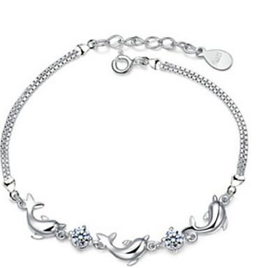 kadın yunusları ametist gümüş zincir bilezik şık stil