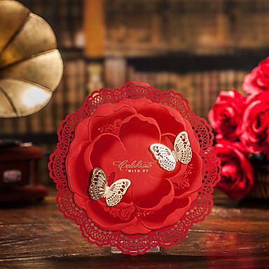 Имя, надпись на заказ Плоские Свадебные приглашения Пригласительные билеты-31 Шт./набор / 50 Шт./набор Классический / С бабочками