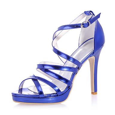 Γυναικεία παπούτσια - Πέδιλα - Γάμος / Πάρτι & Βραδινή Έξοδος - Τακούνι Στιλέτο - Ανοιχτή Μύτη - Λουστρίν - Μαύρο / Μπλε / Ασημί / Χρυσό