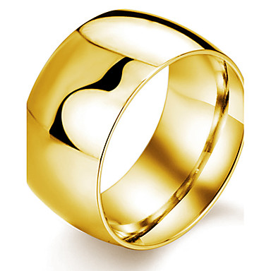 Men's Band Ring White Black Golden Titanium Steel Gold Plated Cross Wedding Party Daily Casual Sports Costume Jewelry