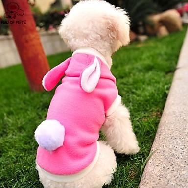 Cat / Dog Costume / Shirt / T-Shirt / Hoodie / Outfits Pink Dog Clothes Winter Cartoon / Animal Wedding / Cosplay / Halloween