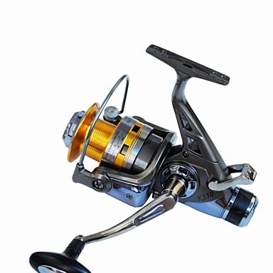 Fiskesneller Spinne-hjul 5.2:1 Gear Forhold+10 Kulelager Hånd Orientering Byttbar Søfisking Spinne Ferskvannsfiskere Trolling- &