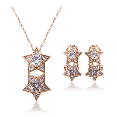 Mücevher-Kolyeler / Kolczyki(alaşım)Düğün / Parti / Günlük Düğün Hediyeleri