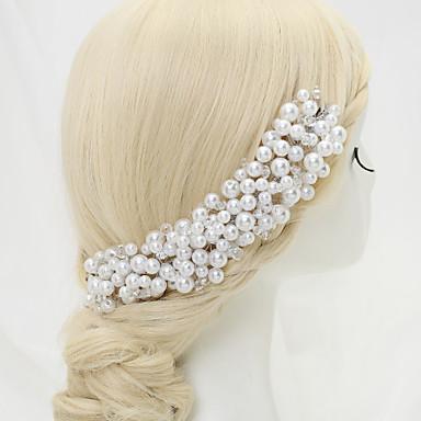 Crystal Imitation Pearl Alloy Headbands 1 Wedding Special Occasion Birthday Party / Evening Headpiece