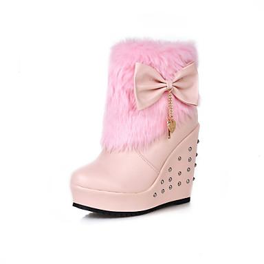 Saappaat - Kiilakorko - Naisten kengät - Tekonahka - Pinkki / Valkoinen / Beesi - Puku - Teräväkärkiset / Saappaat