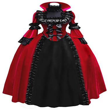 Yksiosainen/Mekot Gothic Lolita Steampunk® Cosplay Lolita-mekot Patchwork Pitkähihainen Pitkä Pituus Leninki Varten Pitsi Vakosametti