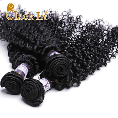 Человека ткет Волосы Индийские волосы Kinky Curly 3 предмета волосы ткет