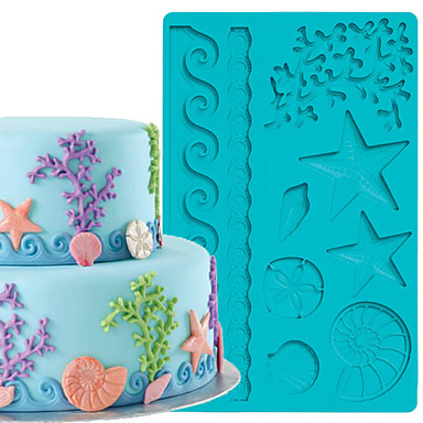 Cake Decoration Tools Jewelry Fondant and Gum Paste Mould Cake Border Silicone Mold