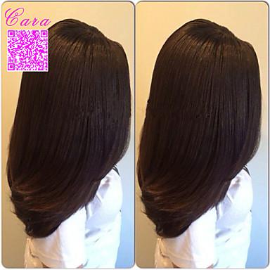 Натуральные волосы Лента спереди Парик Прямой 120% плотность 100% ручная работа Парик в афро-американском стиле Природные волосы Короткие