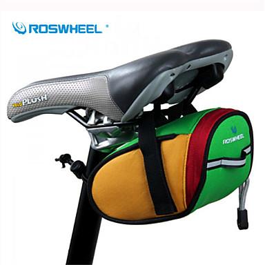 ROSWHEEL® 자전거 가방 0.8L자전거 새들 백 방수 / 방수 지퍼 / 충격방지 / 착용할 수 있는 싸이클 가방 600D 폴리에스터 싸이클 백 캠핑 & 하이킹 / 사이클링 15*7*7.5