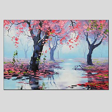 Maalattu Kukkakuvio/Kasvitiede Horizontal, European Style Moderni Kangas Hang-Painted öljymaalaus Kodinsisustus 1 paneeli