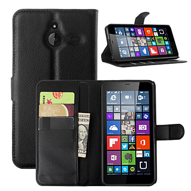Case For Nokia Lumia 540 Nokia Lumia 640 Nokia Nokia Lumia 730 Nokia Case Card Holder Wallet with Stand Full Body Cases Solid Color Hard