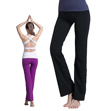 Dam Yoga byxor Vit Svart Purpur sporter Mode Bomull Byxa Underdelar Zumba  Löpning Fitness Sportkläder Snabb tork Lättviktsmaterial Elastisk   Vinter  4316631 ... feee348f72897