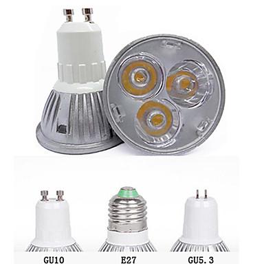 3000/6500 lm GU10 GU5.3(MR16) E26/E27 Lâmpadas de Foco de LED MR16 3 leds LED de Alta Potência Decorativa Branco Quente Branco Frio AC