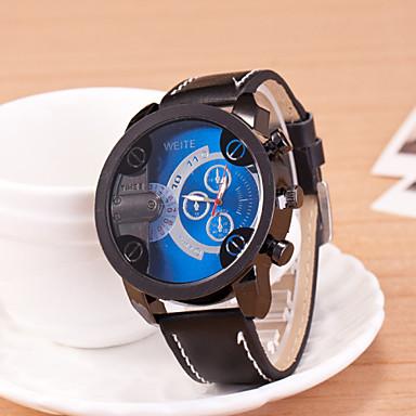 Oulm Муж. Кварцевый Наручные часы Спортивные часы Спортивные часы PU Группа Кулоны Черный Коричневый