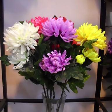 폴리에스터 / 플라스틱 국화 인공 꽃
