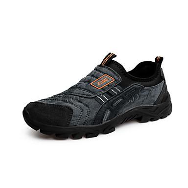 Hombre PU Primavera / Otoño Confort / botas slouch Zapatos de taco bajo y Slip-On Listo para vestir Gris / Verde / Marrón Claro