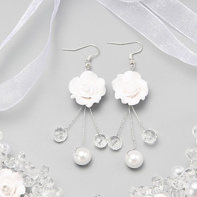 Women's Crystal Imitation Pearl Imitation Pearl Alloy Flower Jewelry White Costume Jewelry