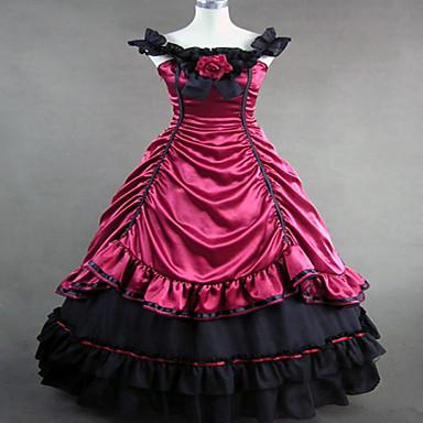 Gothic Lolita Dress Steampunk® Satin Women's Dress Cosplay Sleeveless Long Length