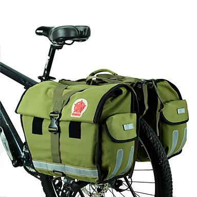 ROSWHEEL Bike Bag 45L Panniers & Rack Trunk Moistureproof/Moisture Permeability Waterproof Waterproof Zipper Wearable Bicycle Bag Canvas