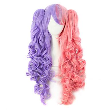 cabelo de nylon de alta qualidade encaracolado cor da moda do cabelo da menina peruca necessário