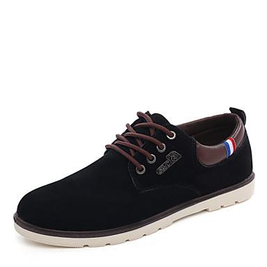 Herrn Schuhe Nubukleder Frühling / Herbst Cowboystiefel / Westernstiefel Sneakers Walking Schwarz / Braun / Blau / Wildlederschuhe