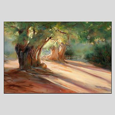 Pintados à mão Floral/BotânicoEstilo Europeu / Moderno 1 Painel Tela Pintura a Óleo For Decoração para casa