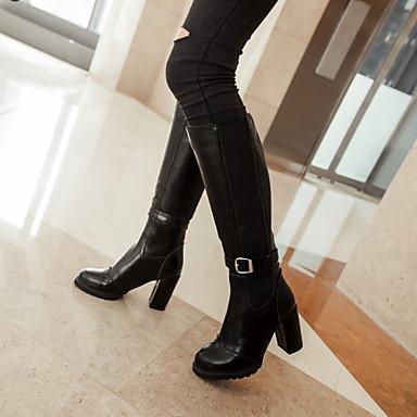 mollet Automne Bottes Similicuir 04296613 Pour Chaussures Fermeture Boucle Mi Décontracté Bottier Habillé Hiver Talon Femme Bottes Combinaison nCzpTq