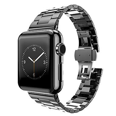 Uhrenarmband für Apple Watch Series 3 / 2 / 1 Apple Schmetterling Schnalle Edelstahl Handschlaufe