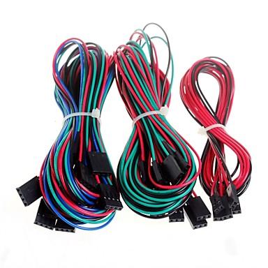14pcs komplett ledningsnett kabler for 3d printer RepRap ramper 1,4 endestopper thermistors motor
