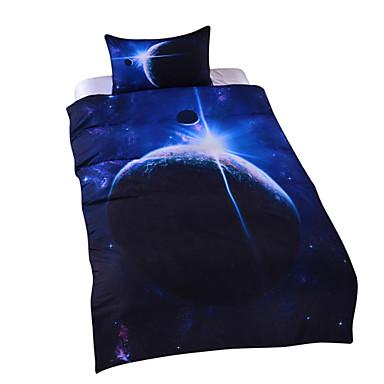 billige Dynesæt-dynebetræk sæt 3d poly / bomuld reaktive print 3 stk sengetøj sæt / 200/3 stk (1 dynebetræk, 2 shams) konge