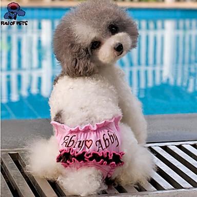 Σκύλος Παντελόνια Ρούχα για σκύλους Καθημερινά Καρδιές Καφέ Ροζ Στολές Για κατοικίδια