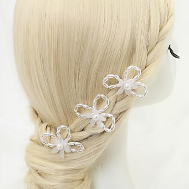 Drágakő és kristály / Tüll / Gyöngyutánzat Sisak / Hair Pin with Kristály / Toll 1 Esküvő / Különleges alkalom / Születésnap Sisak