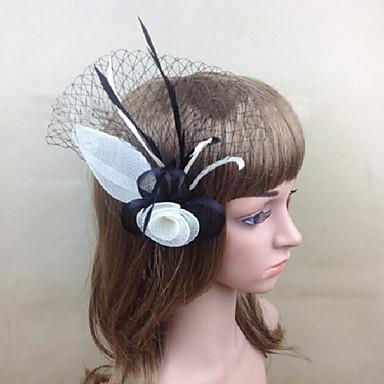 Damen Feder Netz Kopfschmuck-Hochzeit Besondere Anlässe Kopfschmuck 1 Stück