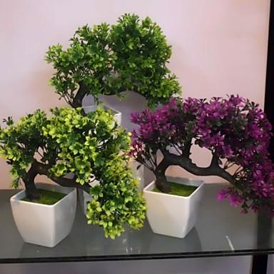 분기 폴리에스터 플라스틱 플랜츠 테이블  플라워 인공 꽃